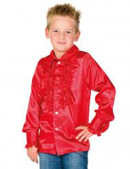 Skjorte i rød med frynser til børn
