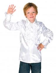 Skjorte i hvid med frynser til børn
