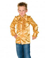 Skjorte guldfarvet med frynser til børn