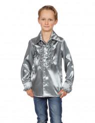 Skjorte i sølv med frynser til børn