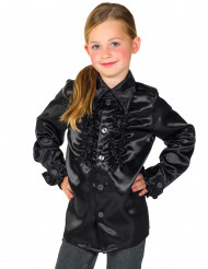 Skjorte i sort med frynser til børn