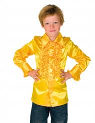 Skjorte i gul med frynser til børn