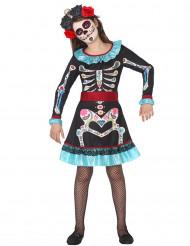 Kostume skelet Die de los Muertos til piger