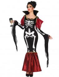 Kostume vampyr skelet til kvinder Halloween