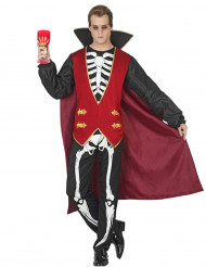 Kostume vampyr skelet til mænd Halloween