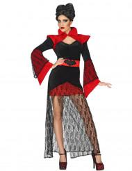 Kostume vampyr med blonder til kvinder Halloween