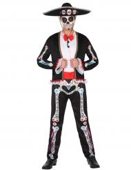 Mexikansk Dia de los Muertos kostume til mænd