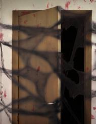 Sort edderkoppespind - Halloween dekoration