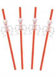 Sugerør 5 stk. med skelet Halloween 29 cm