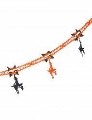 Guirlande heks orange og sort Halloween 240 cm