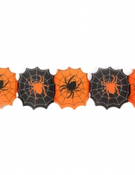 Guirlande papir spindelvæv Halloween 240 cm