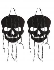 Dekoration sort dødningehoved Halloween