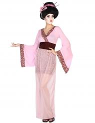 Kostume lyserød geisha til kvinder