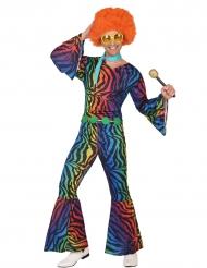 Kostume zebrastribet multifarvet til mænd