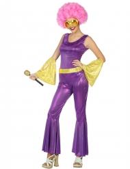 Kostume disco holografisk lilla og guld til kvinder