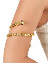 Armsmykke guld slange til voksne
