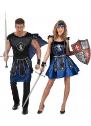 Parkostume Blå riddere til voksne