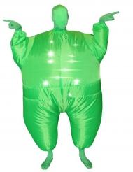 Kostume oppusteligt og lysende Morphsuit grønt til voksne