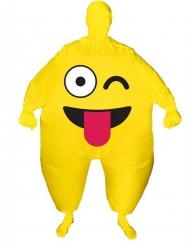 Kostume oppusteligt blinkende ansigt Morphsuits™ til voksne