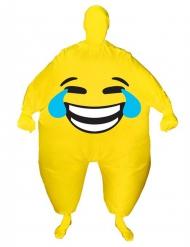 Kostume oppusteligt grinende ansigt Morphsuits™ til voksne