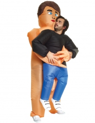 Kostume Carry Me Båret af nøgen mand Morphsuits™ til voksne