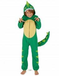 Grønt dinosaurkostume til børn
