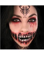 Midlertidig tatovering til ansigtet dæmonisk smil til voksne