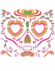 Midlertidig ansigtstatovering Dia de los Muertos til kvinder