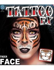 Midlertidig tatovering til ansigtet tiger til voksne