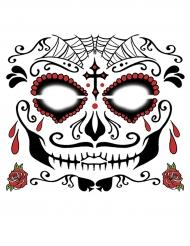 Midlertidig ansigtstatovering Dia de los Muertos