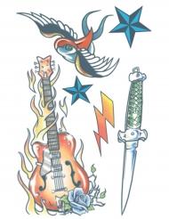 Midlertidig tatovering til kroppen rock star til voksne