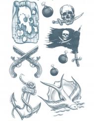Midlertidig tatovering til kroppen pirat til voksne
