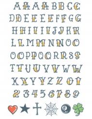 Midlertidig tatovering til kroppen alfabet til voksne
