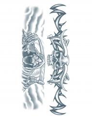 Midlertidig tatovering til kroppen spøgelse til voksne