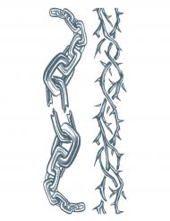 Midlertidig tatovering til kroppen kæder til voksne