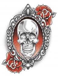 Tatovering midlertidig skelet og rose til voksne