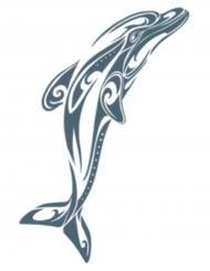 Tatovering midlertidig delfin til voksne