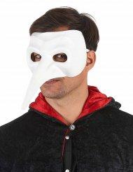 Maske med lang hvid næse til voksne luksus