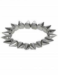 Armbånd punk sølv til voksne