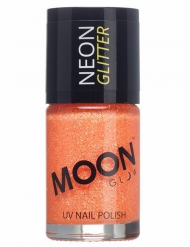 Neglelak orange med glimmer selvlysende Moonglow©