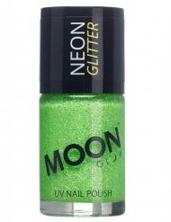 Neglelak grøn med glimmer selvlysende Moonglow©