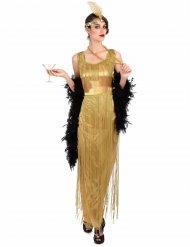 Kostume Charleston guld med frynser til kvinder