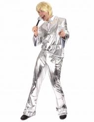 Sølv diskokostume til mænd