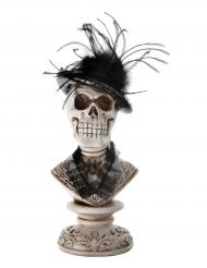 Dekoration gotisk dødningehoved 27 cm Halloween