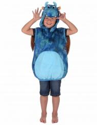 Kostume blå og orange drage til børn