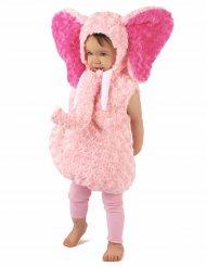 Kostume lyserød elefant til børn