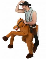 Kostume mand på ryggen af en hest til voksne