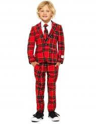 Jakkesæt Mr. Tartan rød til børn Opposuits™