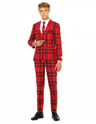 Jakkesæt Mr. Tartan rødt skotsk teenager Opposuits™