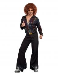 Skjorte disco multifarvet til mænd